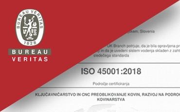 Certifikat ISO 45001
