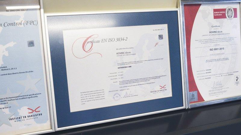 Certifikat ISO 3834-2