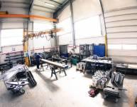 Izdelava konstrukcije v proizvodni hali