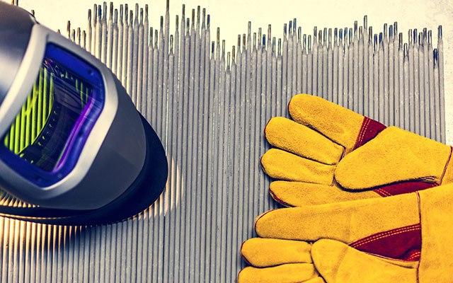 Varilna maska in varilne rokavice